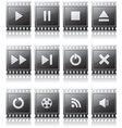 set buttons with symbols vector image