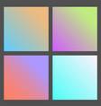Set of gradient futuristic square design