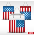 Set of Shopping bag with USA flag vector image vector image