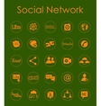 Set of social network simple icons vector image vector image