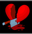severed bloody heart vector image