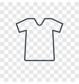 shirt concept linear icon isolated on transparent vector image