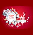 snowflakes and lanterns vector image