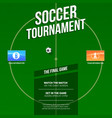 soccer football ad template for game tournament vector image vector image