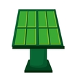 solar panel green energy icon vector image vector image