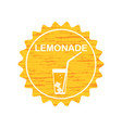 sticker label logo of lemonade drink soda vector image