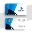 stylish blue business card for contact vector image vector image