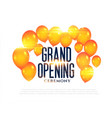 stylish grand opening balloons background vector image vector image