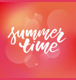 summer time text lettering calligraphy letters vector image vector image
