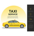 taxi service concept template vector image