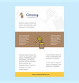template layout for honey comany profile annual vector image vector image