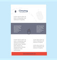 template layout for mouse comany profile annual vector image vector image
