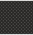 Tile pattern white polka dots on black background vector image vector image