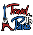 Travel Paris symbol vector image