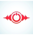Turn off the music vector image vector image