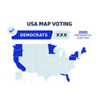usa presidential election democrats results map vector image vector image