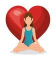 woman practicing yoga healthy lifestyle vector image