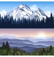 Landscape Of Mountains Banners vector image