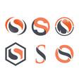 business corporate letter s logo design vector image