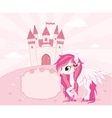 Fairy tale theme background or template with place vector image