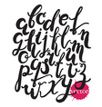 Hand drawn alphabetBlack letters isolated on white vector image