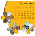 2012 september calendar vector image vector image