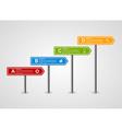 3d arrow signpost business options infographics