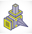 3d design abstract dimensional cube shape