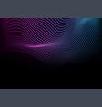abstract futuristic blue purple neon wavy vector image vector image