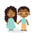 African American girl and young african american vector image