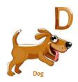 alphabet letter d dog vector image vector image