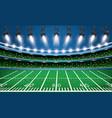 american football stadium arena with spotlights vector image vector image
