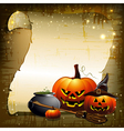 background with pumpkins vector image