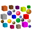 balls and squares vector image vector image
