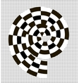 Black and white abstract spiral vector image vector image