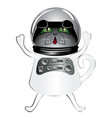 black cat astronaut vector image