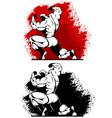 bodybuilder in two versions vector image vector image