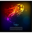 Bright soccer background