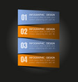 business steb options banner vector image vector image