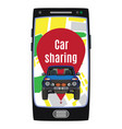 car sharing service concept flat vector image