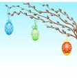 Card with Easter eggs vector image vector image