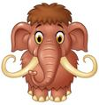 Cartoon cute mammoth isolated on white background vector image