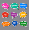 chat stickers vector image
