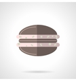 Chocolate macaroon flat color design icon vector image