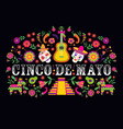 cinco de mayo-may 5th-typography banner vector image vector image