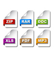 colored document icons vector image