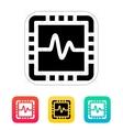 CPU monitoring icon vector image vector image