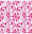 doodle hand drawn abstract pink seamless vector image vector image