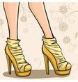 Elegant legs of girl in ankle boot vector image vector image