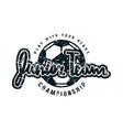 emblem soccer junior team vector image vector image